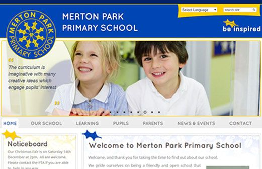 Merton Park Primary School Website Design | Greenhouse School Websites