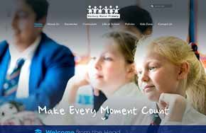 Screenshot of the Norbury Manor Primary School website