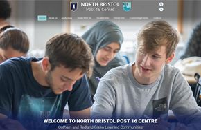 Screenshot of the North Bristol Post-16 Centre website