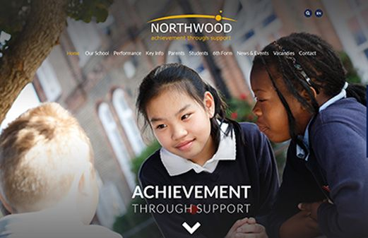 Screenshot of the Northwood School website