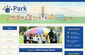 Screenshot of the Park Primary School website