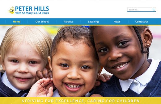 Click to view school website design for Peter Hills with St Mary's & St Paul's