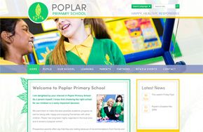 Screenshot of the Poplar Primary School website