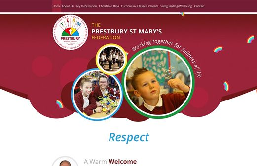 Screenshot of the Prestbury St Mary's Junior School website
