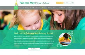 Screenshot of the Princess May Primary School website