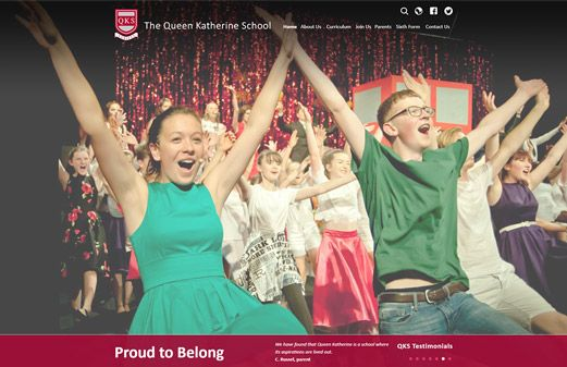 Click to view school website design for The Queen Katherine School