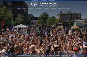 Screenshot of the Ravenstone Primary School website