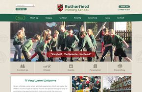 Screenshot of the Rotherfield Primary School website