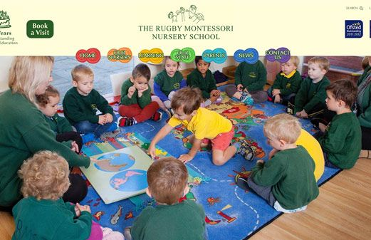 Screenshot of the The Rugby Montessori Nursery School website