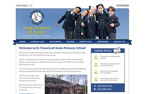 Screenshot of the Saint Francis of Assisi Catholic Primary School website