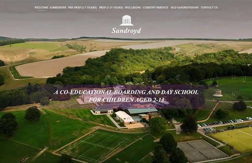 Click to view school website design for Sandroyd