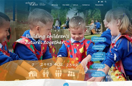 Click to view school website design for Schoolsworks Academy Trust