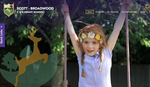 Click to view school website design for Scott-Broadwood CofE Infant School