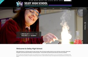 Screenshot of the Selby High School website