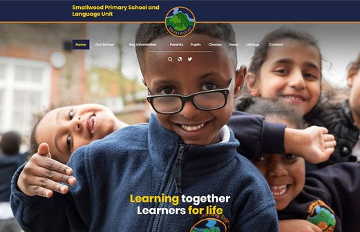 Screenshot of the Smallwood Primary website