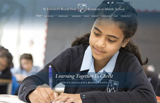 Click to view school website design for St Edward's Royal Free School