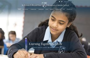 Screenshot of the St Edward's Royal Free School website