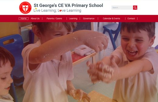 Click to view school website design for St George's CE VA Primary School