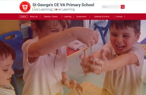 Screenshot of the St George's CE VA Primary School website