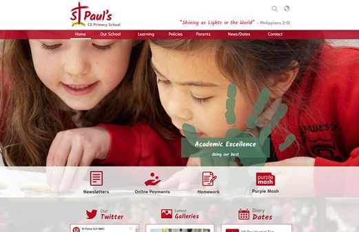Screenshot of the St Paul's (Camden) website