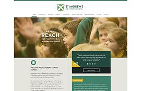 Screenshot of the St Andrew's CE First School website