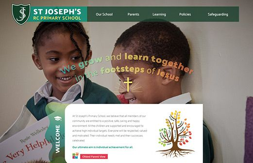Screenshot of the St Joseph's RC Primary School website