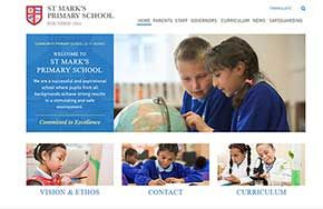 Screenshot of the St Mark's Primary School and Children's Centre website