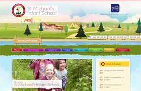 Screenshot of the St Michael's Infant School website