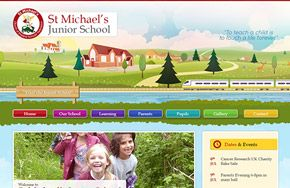 Screenshot of the St Michael's C of E Junior School website