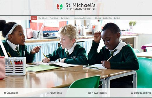 Screenshot of the St Michael's CE Primary School website