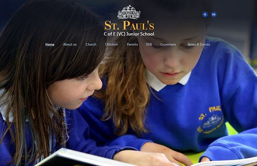 Screenshot of the St. Paul's C of E (VC) Junior School website