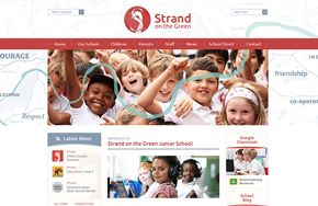 Screenshot of the Strand on the Green Junior School website