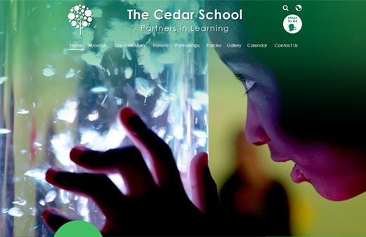 Screenshot of the The Cedar School website