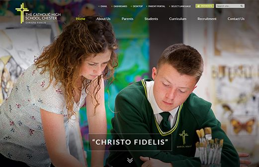 Click to view school website design for The Catholic High School