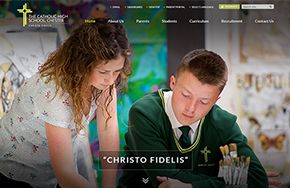 Screenshot of the The Catholic High School website