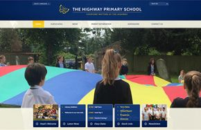 Screenshot of the The Highway Primary School website