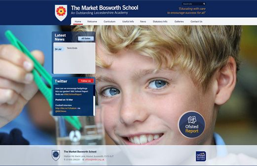 Click to view school website design for The Market Bosworth School
