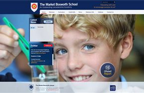 Screenshot of the The Market Bosworth School website
