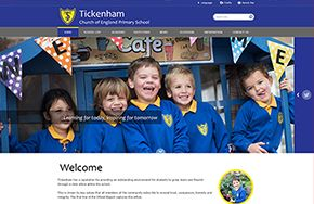 Screenshot of the Tickenham Church of England Primary School website