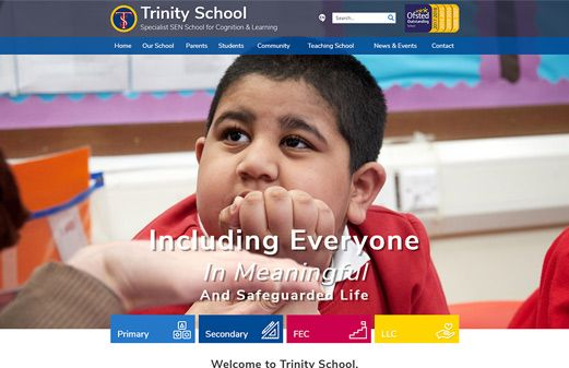 Screenshot of the Trinity School (Dagenham) website