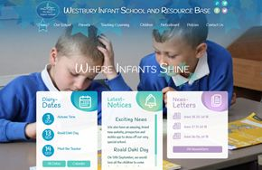 Screenshot of the Westbury Infant School and Resource Base website