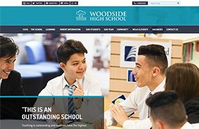 Screenshot of the Woodside High School (Wood Green) website
