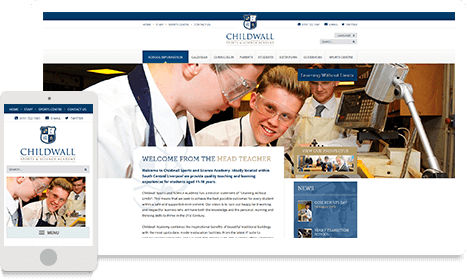 Childwall Sports and Science Academy website