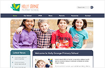 Friendly School Website Template: Navy version