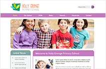 Friendly School Website Template: Pink version