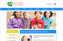 Friendly School Website Template: Blue version