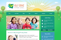Nature School Website Template: Green version