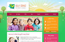 Nature School Website Template: Maroon version
