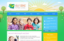 Nature School Website Template: Blue version