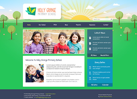 Nature School Website Template: Navy
